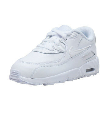 bb596dd36bf5 Nike Air Max 90 Leather (TD) Casual Toddler Shoes 833416 100 White NIB