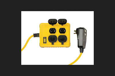 Yellow Jacket Outdoor Power Station 14/3 6 ft. L Yellow