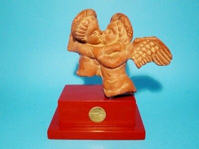 VINTAGE ARTISTIC ANGELS TERRACOTTA FIGURINE from GREECE!!!