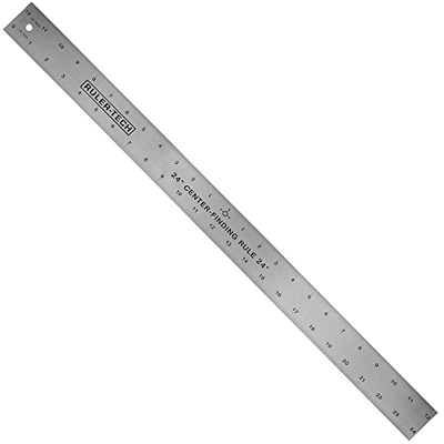 "24"" STAINLESS STEEL CENTER FINDER RULER By Peachtree Woodworking - PW1366, New"