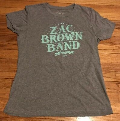 Zac Brown Band 2015 Concert Tee T-Shirt Xxl Gray Teal Jekyll & Hyde Tour