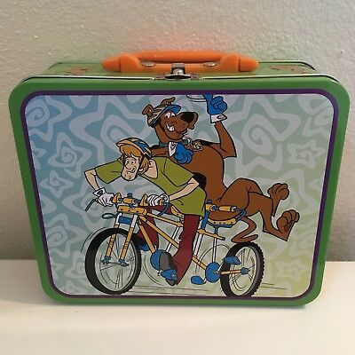Scooby Doo 2011 Metal Tin Lunchbox with 100 pc Puzzle #10618 (ride bicycle)