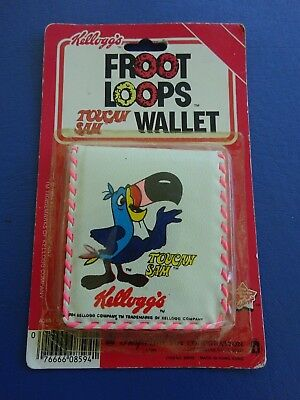 1964 Toucan Sam Kelloggs  Froot Loops Wallet, New in package by Imperial Toy