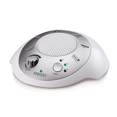 Homedics White Noise Sound Machine   Portable Sleep Therapy for Home, Office, Ba