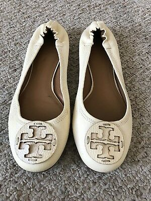 adb0f52c898b07 TORY BURCH IVORY Minnie Travel Ballet Flats Leather -  59.00