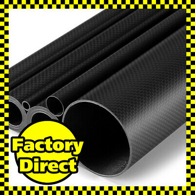 Matte 50mm OD * 47mm ID * 500mm Length 3K Roll Carbon Fiber Tube 50 47 500