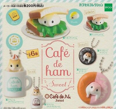 Epoch Capsule ToyCapsule Collection cafe de Ham Sweet hamster Figures 6 set