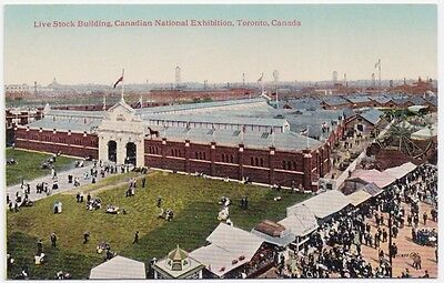 Live Stock Building Canadian National Exhibition Toronto Canada Unused Postcard