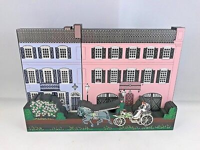 Shelia's collectible rainbow row 97 99 101 east bay charleston sc wooden block