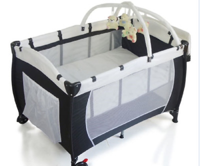 New-Baby-Portable-Travel-Cot-Bassinet-Foldable-Playpen-Portacot  New-Baby-Portab