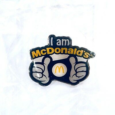 "McDonald's ""I Am McDonald's"" Crew Proud Hat Lapel Uniform Pin ~ New In Package"