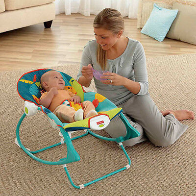 New Infant to Toddler Fisher-Price Rocker Sleeper Vibrating Bouncer Seat Swing