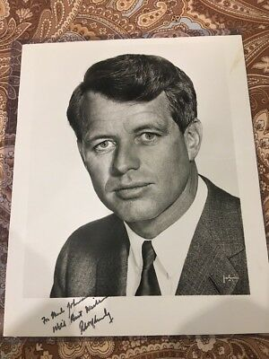 Robert F Kennedy Autographed Hand Signed Photo