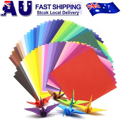 200 Sheets 50 Colours Origami Square Paper Craft Folding 15x15cm Double Sided AU