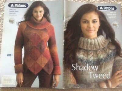 Patons Knitting Book 1263 Shadow Tweed 19 Knit Designs Patterns Xxs-Xl
