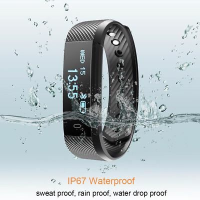 Smart Heart Rate health watch Band Fitness Activity tracker Wristband Man Gift