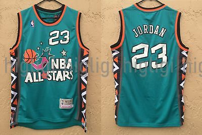 check out bde7b f6bc2 NWT MICHAEL JORDAN #23 NBA 1996 All Star Jersey Throwback Retro Stitched