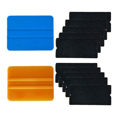 "4"" Felt Edge Squeegee for Car Vinyl Wrapping Applicator Tools Kits With 10 Felts"