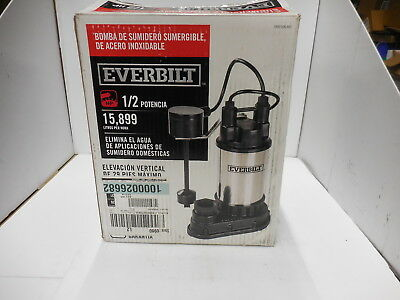 EVERBILT 115V, 1/2HP Submersible Stainless Utility Sump Pump MODEL# SP05002VD