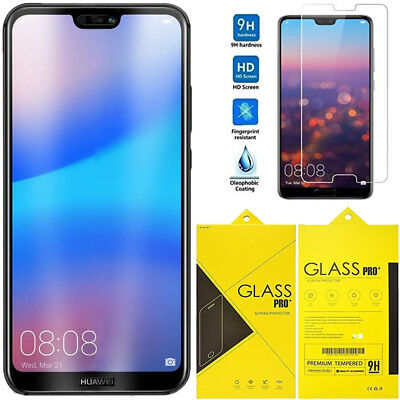 Genuine Tempered Glass Screen Protector Guard Fits Huawei P20, P20 Lite ,P20 Pro