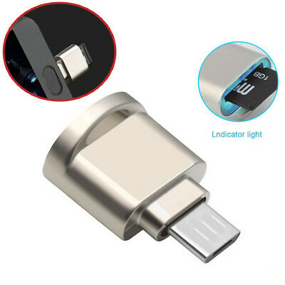 Alloy Micro USB OTG TF Mini SD Card Reader Adapter Converter For Android Phone X