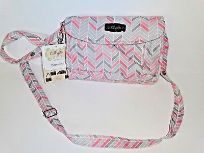 NEW Lilly Bit Chevron design Diaper Clutch bag pink Gray by Demdaco