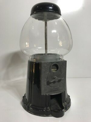 Vintage Retro Metal Gumball Lolly Candy Machine Dispenser Black Collectable 70s