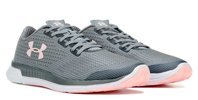 super popular af3ae 5d79e UNDER ARMOUR WOMEN'S Charged Lightning Running Shoe Grey/Steel/Pink New In  Box