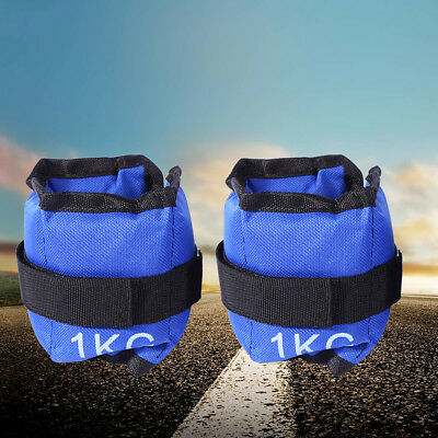 2* 1KG Ankle Weights Adjustable Leg Wrist Running Gym Training Exercise Workouts