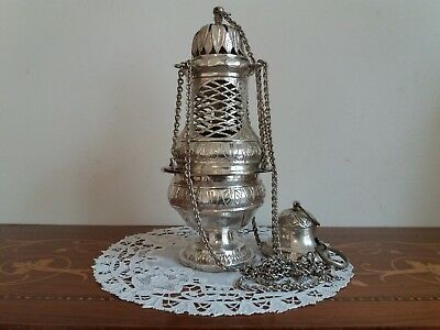 Thurible censer incense Church 18th-19th Turibolo chiesa encensoir chasuble 700s