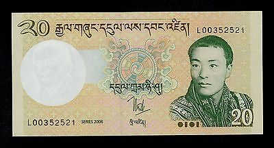 Bhutan  20 Ngultrum 2006  Pick # 30  Unc.