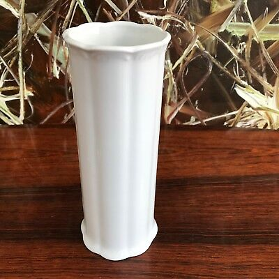 Royal KPM Germany, Fine Cylindrical Vase 20cm, White Porcelain - Handmade