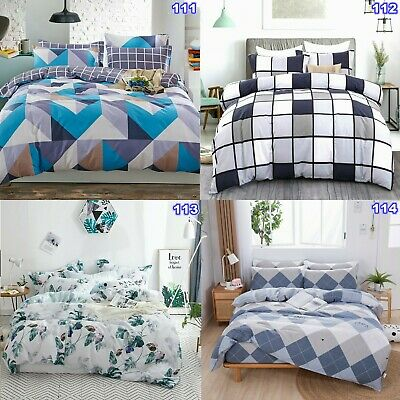 Floral Doona Quilt Duvet Covers Set Single Double Queen King Size Bed Pillowcase
