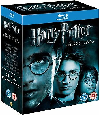 HARRY POTTER Series 1-8 Complete Movie Collection 1 2 3 4 5 6 7 8 Boxset Bluray