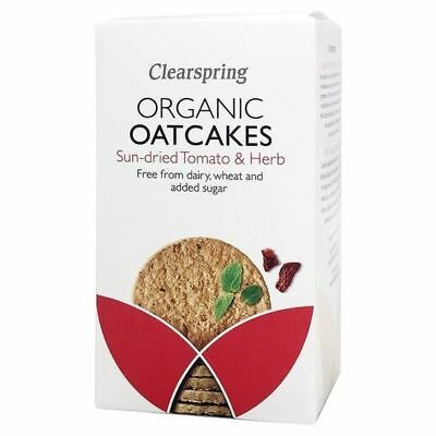 Clearspring Organic Sun-Dried Tomato & Herb Oatcakes 200g - Pack of 6