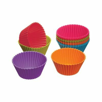 Colourworks Silicone Cupcake Cases 12 per pack - Pack of 6