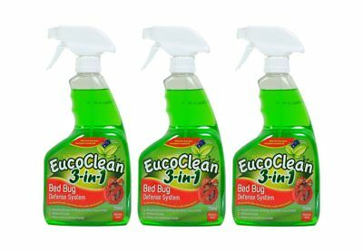 All Natural Eucoclean 3-in-1 Bed Bug Defense System, 750ml (3 Pack)