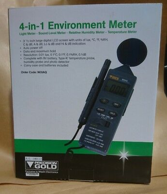 4-in-1 Environment Meter Sound Level Lux Light Humidity RH Temperature N09AQ