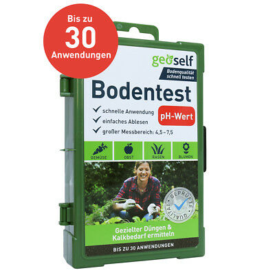 pH Bodentest – Bodenanalyse auf den Boden pH-Wert, bis zu 30 Tests von geoself