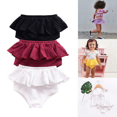 Toddler Baby Girl Ruffle Candy Color Cake Smash Bottom Shorts Diaper Cover Pants