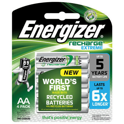 ENERGIZER AA Rechargeable Batteries 4 Pack Recharge Extreme 1.2V 2300 mAh NiMH