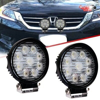 """2x 4"""" Round LED Lights For HONDA Odyssey CRV Civic Offroad CA Size License Plate"""