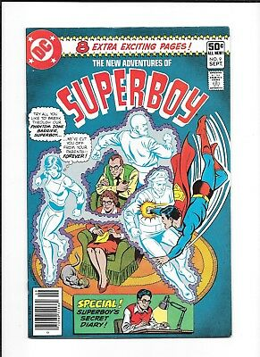 New Adventures Of Superboy #9 (Fn/vf) Dc Bronze