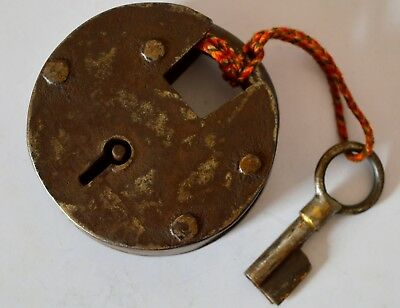 Locks & Key Hand Crafted Iron Unique Vintage Indian Antique Padlock With 2 Key