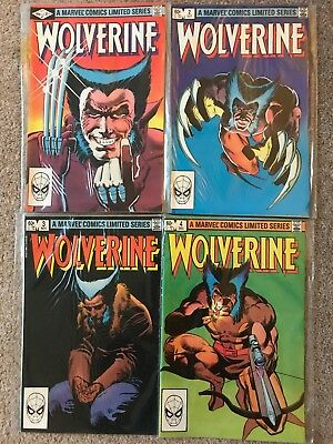 WOLVERINE (Marvel Comics) 1st Limited Series (1982) 1-4 (FULL SERIES) - NM