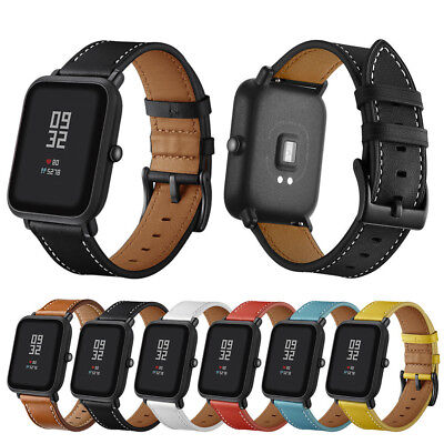 Huami Amazfit Bip Youth Replacement Genuine Leather Wristband Smart Watch Strap