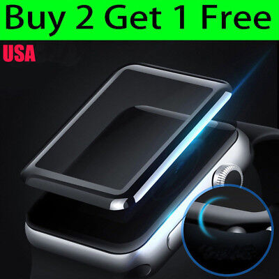 Apple Watch Series 3/2/1 38 42mm 3D Full Edge 9H Tempered Glass Screen Protector