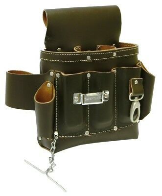Rolson Oil Tan Top Grain Electricians Pouch Leather Single Tool Waist Belt 68690