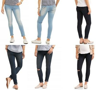 Oh! Mamma Maternity Full Panel Super Soft Destructed Skinny Boyfriend Crop Jeans