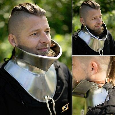 Gorget with Bevor Perfect Neck Armour for Re-enactment, Costume or LARP